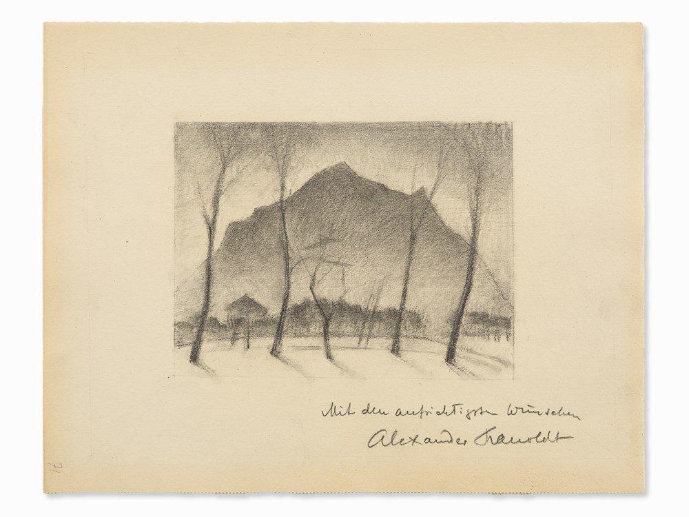 Alexander Kanoldt (1881-1939), Mountains, Drawing, c.