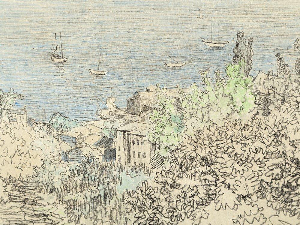 Paul Baum (1859-1932), South Italian Bay, Watercolor,
