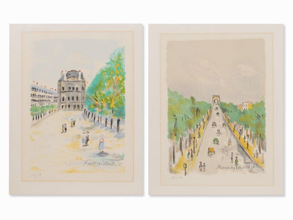 Maurice Utrillo (1883-1955), Paris, 2 Lithographs, c.