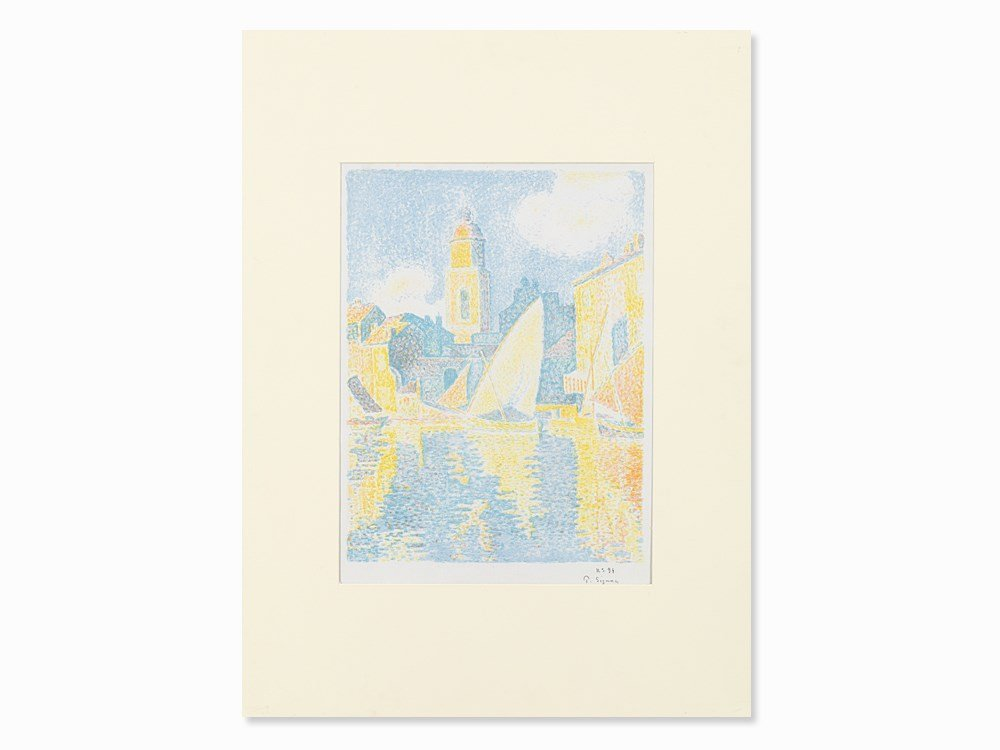 Paul Signac, Saint-Tropez: Le Port, Color Lithograph,