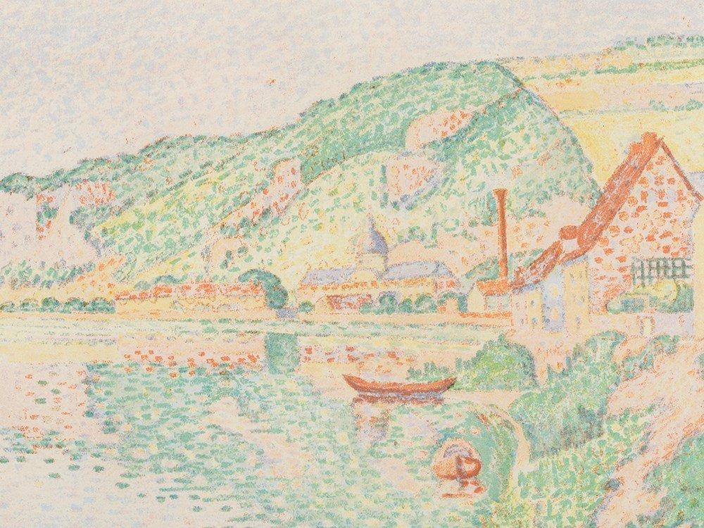 Paul Signac, Les Andelys, Lithograph in Colors, 1895