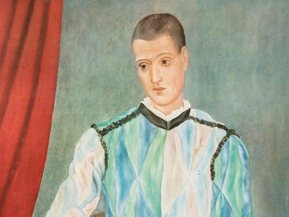 Pablo Picasso, After 'Harlequin', Color Offset Print,