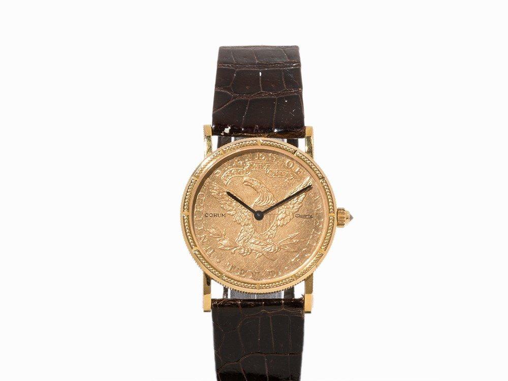 Corum 10 Dollar Coin Wristwatch, Switzerland, c. 1990