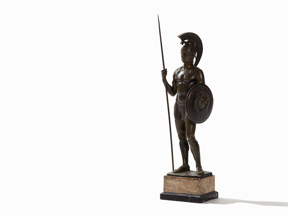 Rieder, a Large Bronze Sculpture, Roman Soldier,