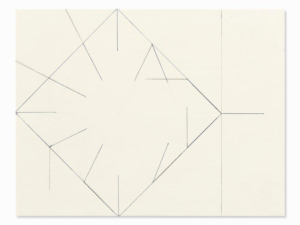 Helmut Federle (b. 1944), Work for 2 Pos. Logiks, 1980