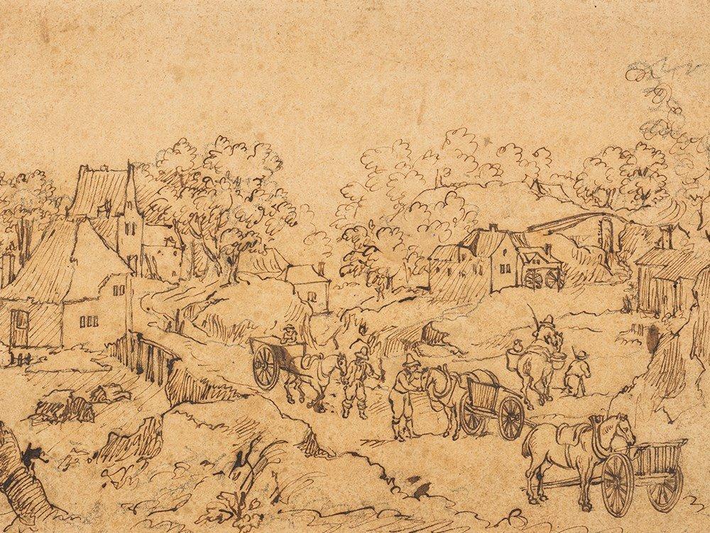 After Jan Brueghel II., Village Landscape, 19th C.