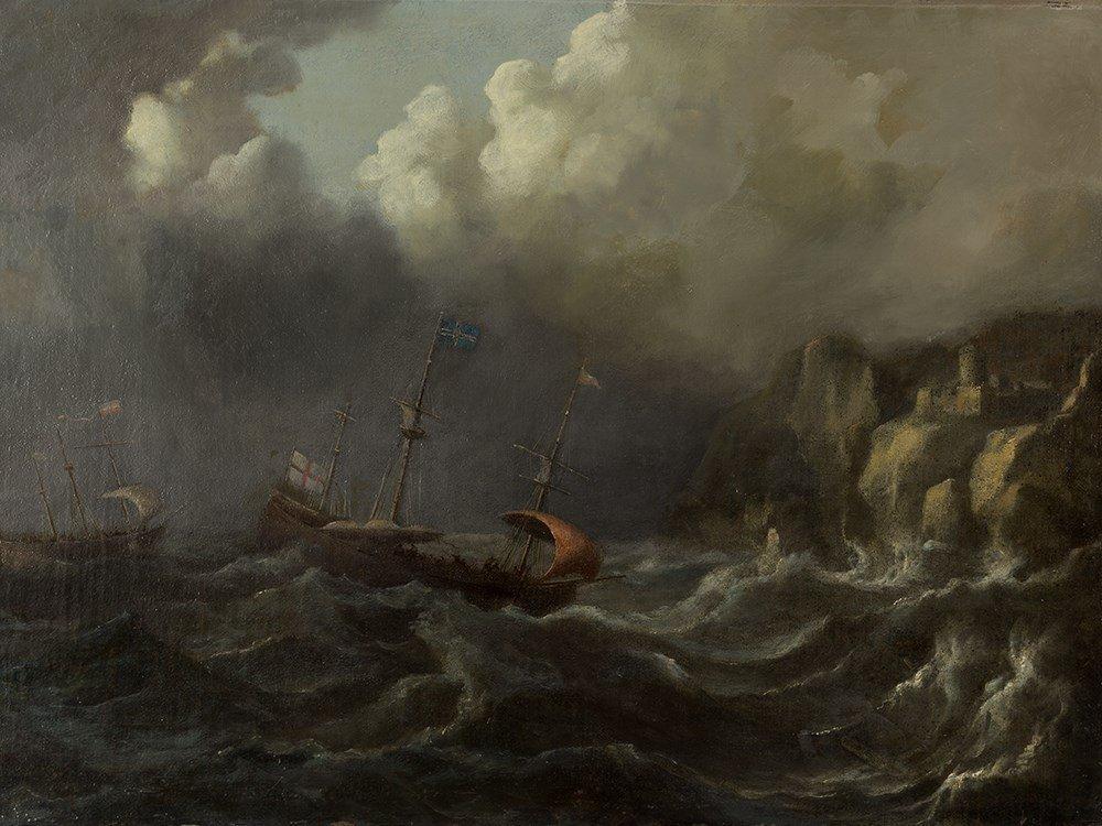 Attributed Peter van den Velde, Seascape, Painting,