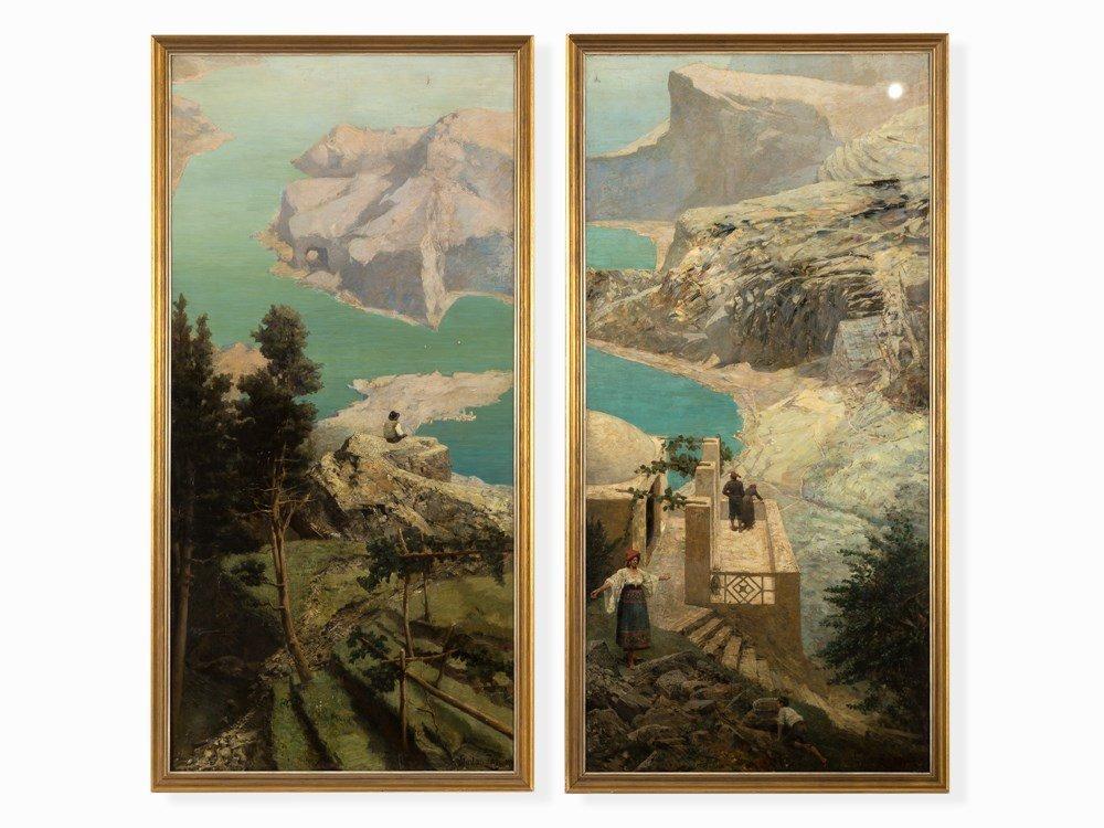 Gustav Zorn (1845-1893), Southern Landscapes, 2