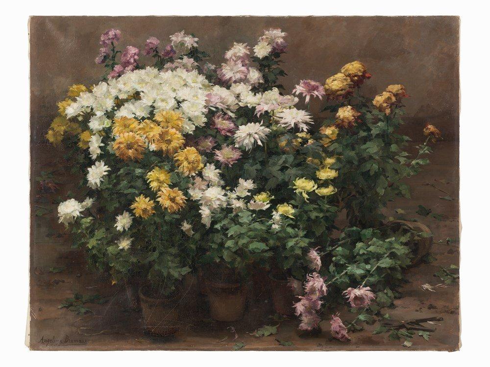 Angelina Drumaux (1881-1959), Chrysanthmes en fleurs, - 3