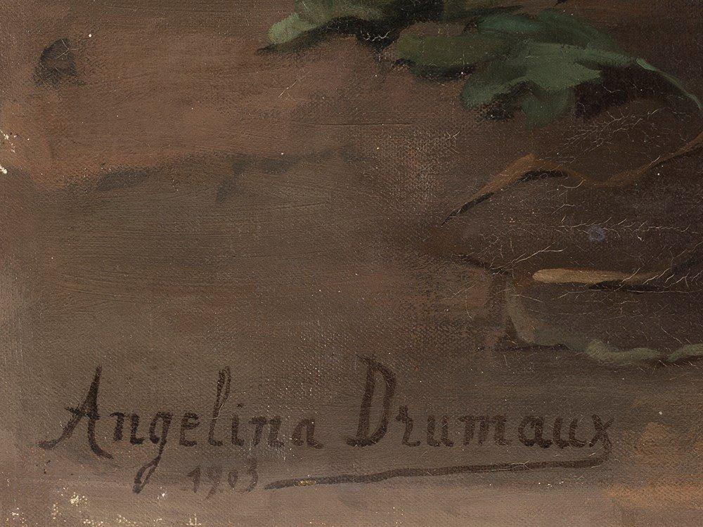 Angelina Drumaux (1881-1959), Chrysanthmes en fleurs, - 4