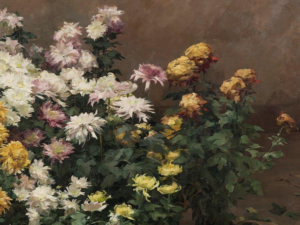 Angelina Drumaux (1881-1959), Chrysanthmes en fleurs, - 6