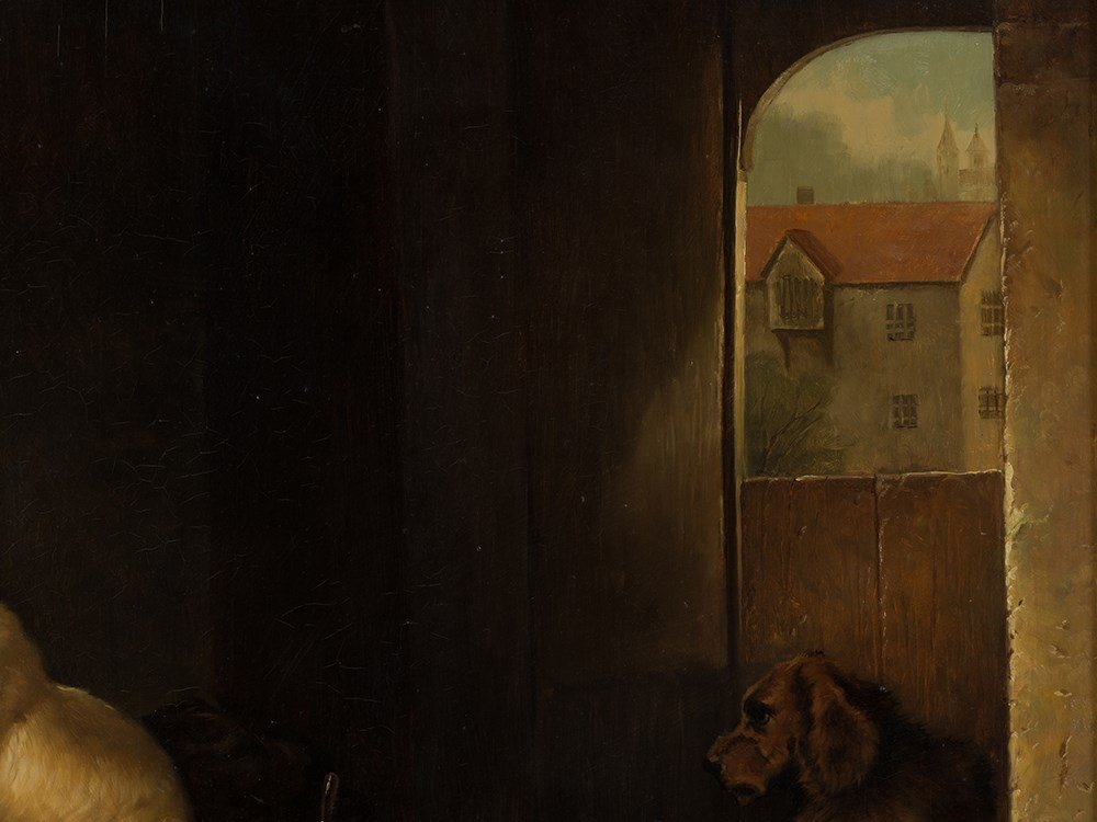 Jan Mortel (1906-?), Four Dogs, Oil on Wood, Europe, - 6