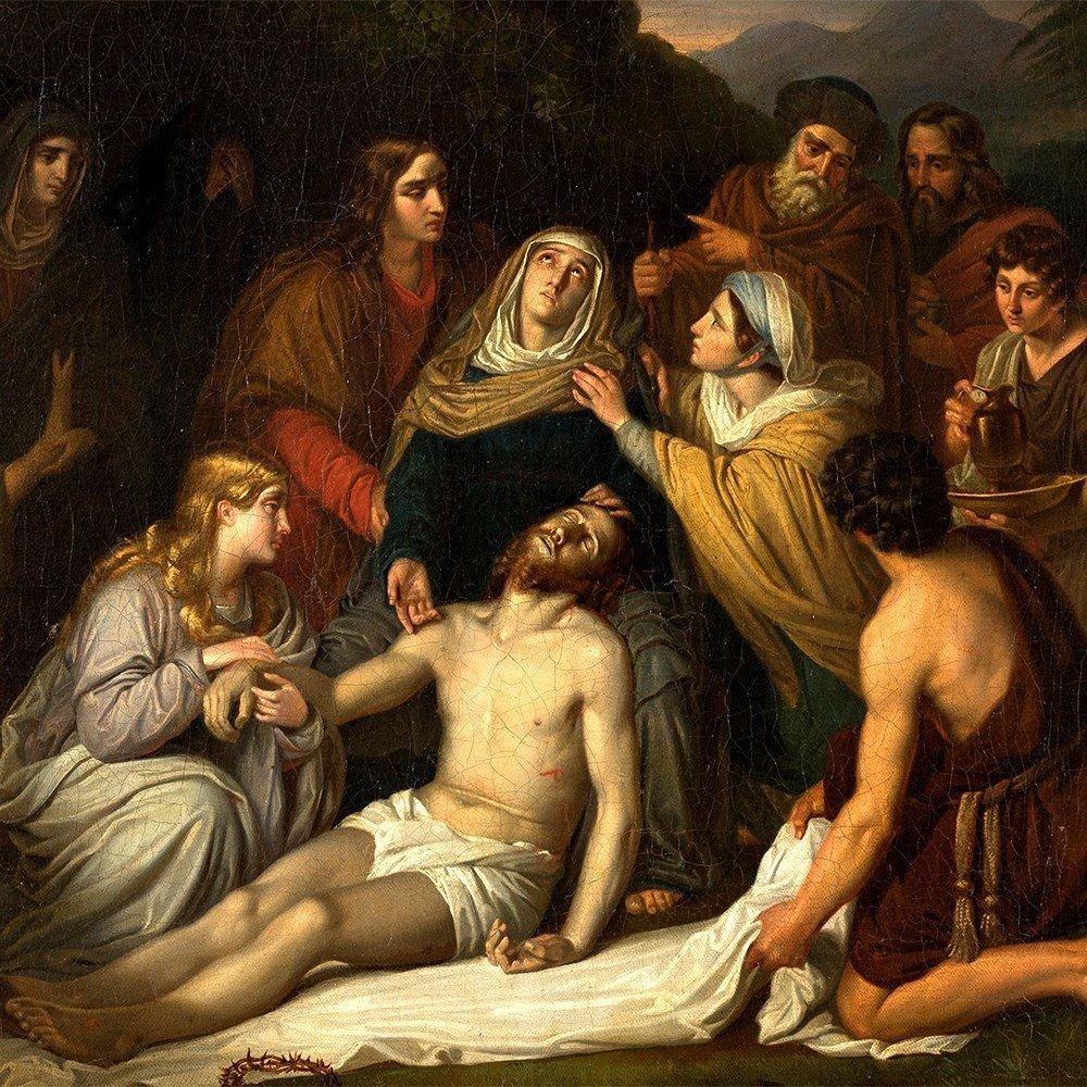 Copy after Cornelis Kruseman, Entombment, Painting, c. - 10