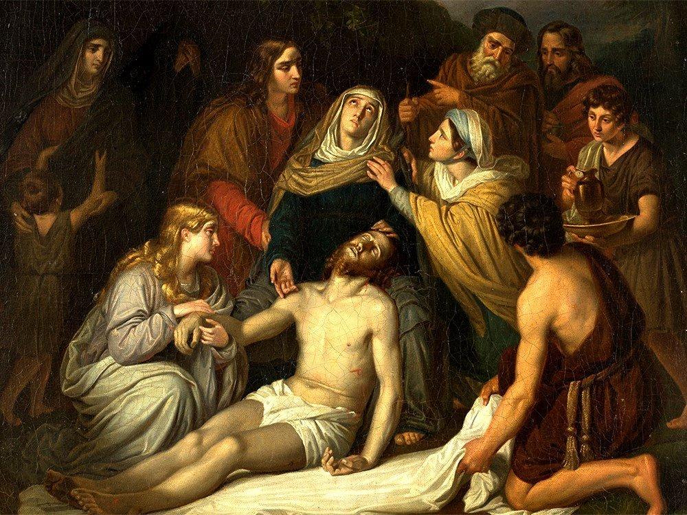 Copy after Cornelis Kruseman, Entombment, Painting, c.