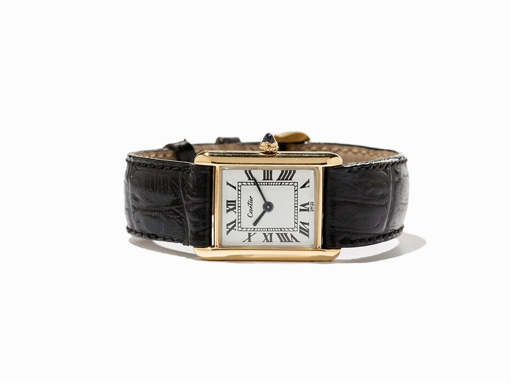 Cartier Tank Wristwatch, Ref. 8143, Switzerland, C.