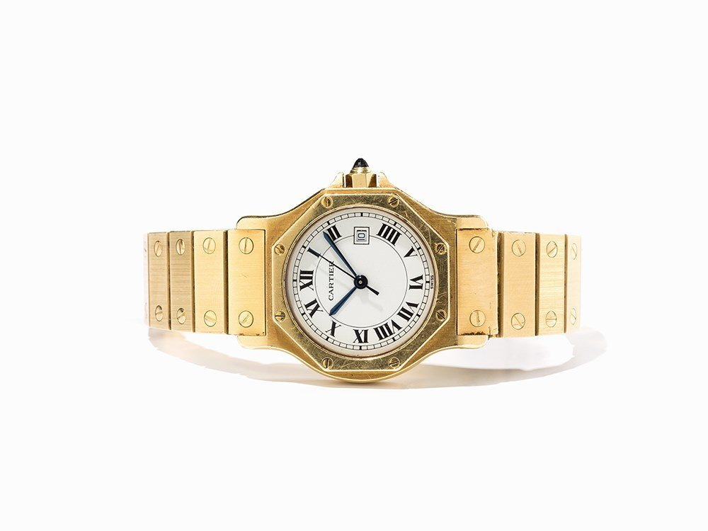 Cartier Santos Wristwatch, Switzerland, Around 1982