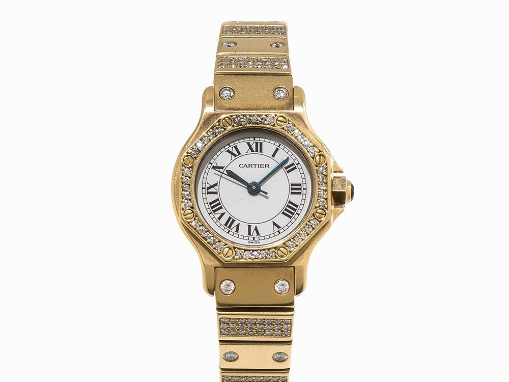 Cartier Diamond Ladies' Watch, Switzerland, c. 1995