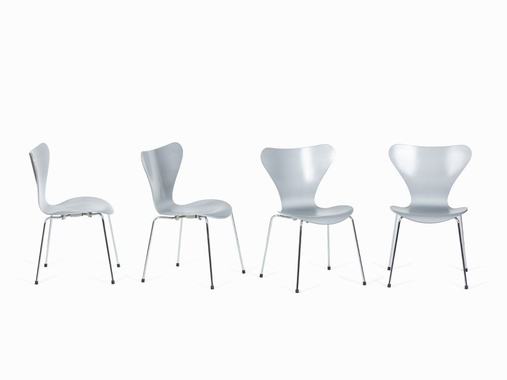 Arne Jacobsen, 4 Chairs, Series 7, Fritz Hansen,
