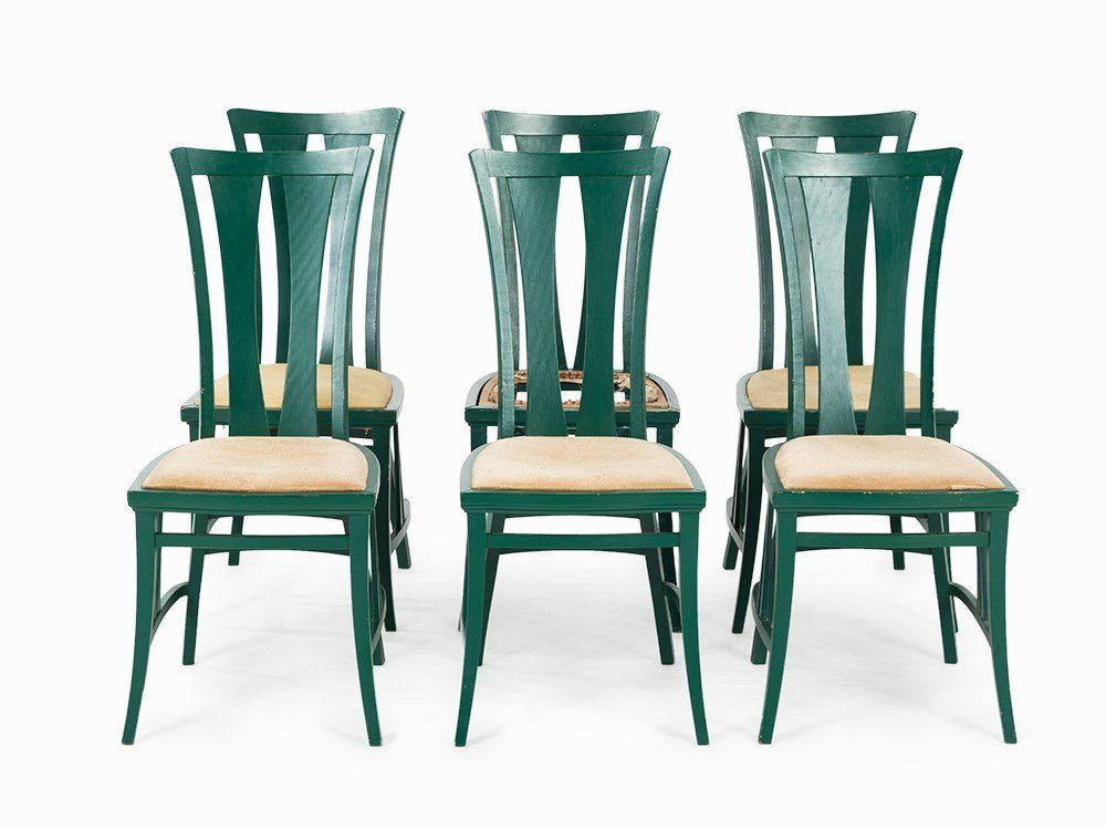 6 Chairs after Peter Behrens, Germany, 1st H. 20th C.