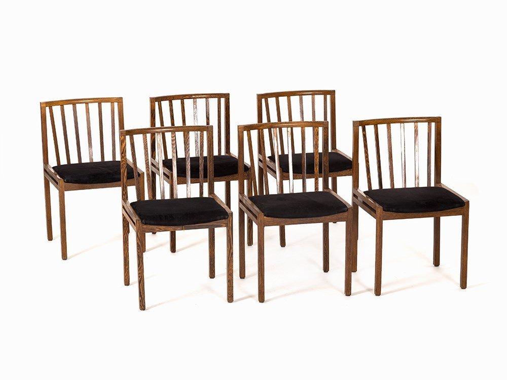 A Set with 6 Chairs, Wenge, Scandinavia,1950s