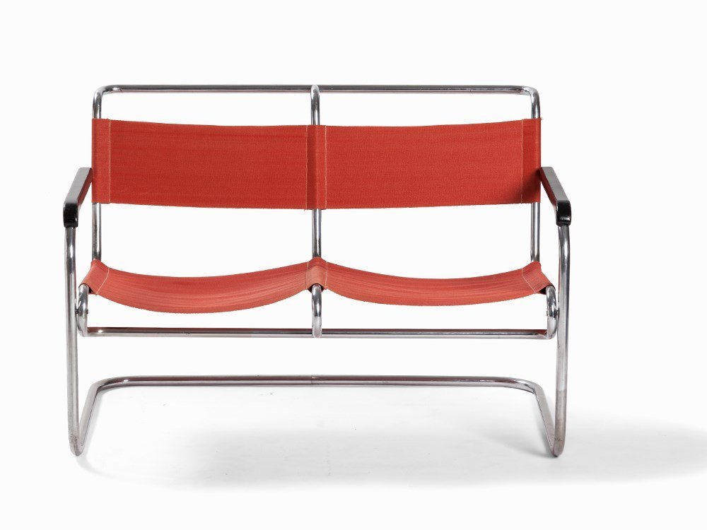 A Steel Tube Bench, 2 Seater, Netherlands,1930s