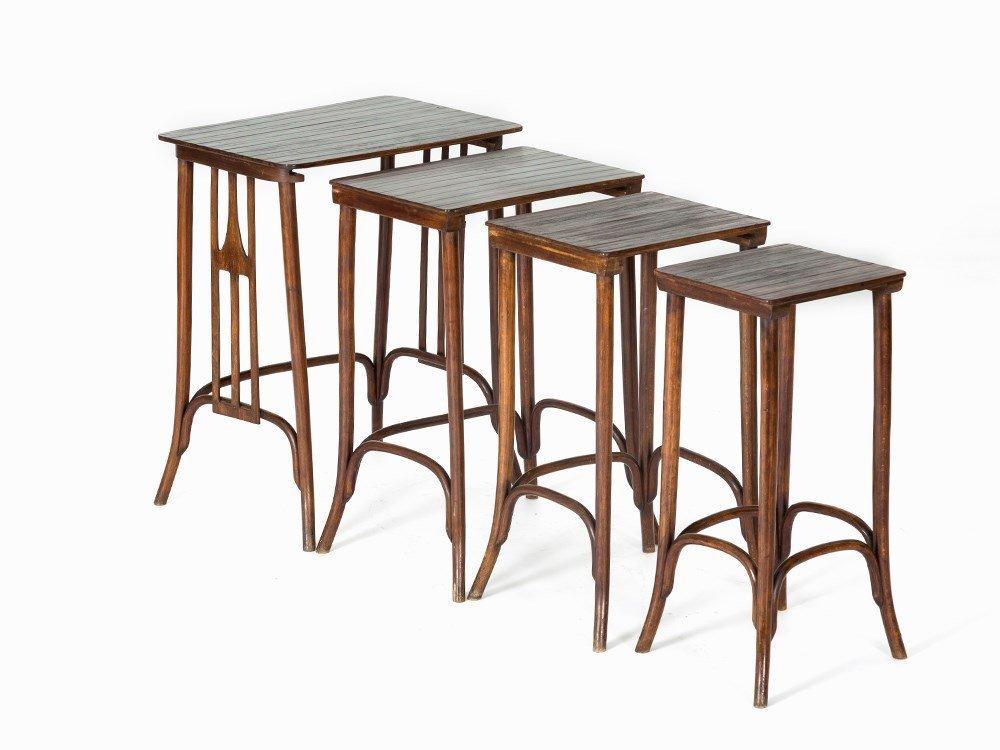 J. & J. Kohn,Set of Four Nesting Tables, Austria, c.