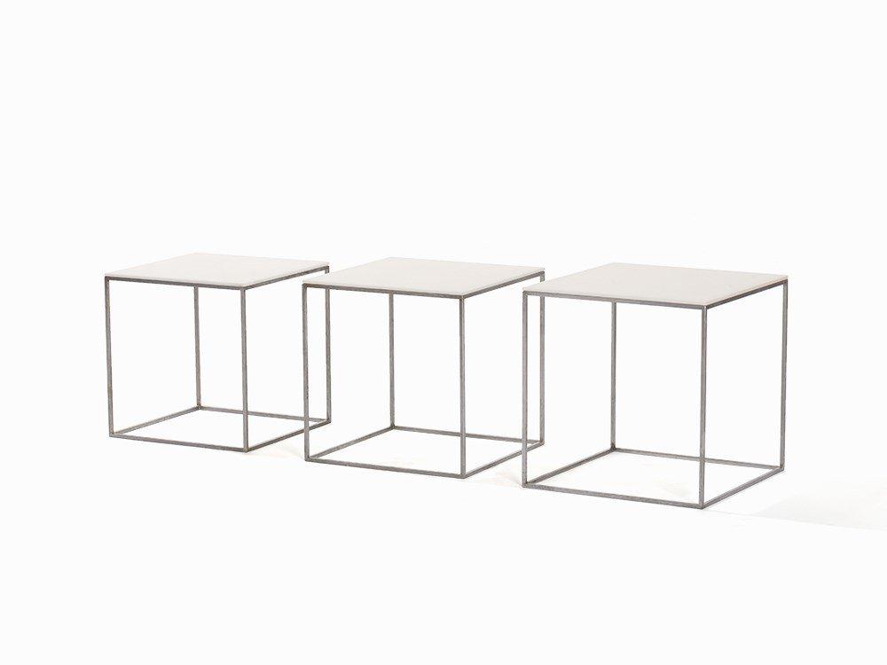 Poul Kjaerholm, 3 PK71 Nesting Tables, K. Christensen,