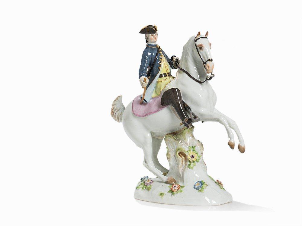 Meissen, Large Equestrian Figure, 'Jäger zu Pferde',