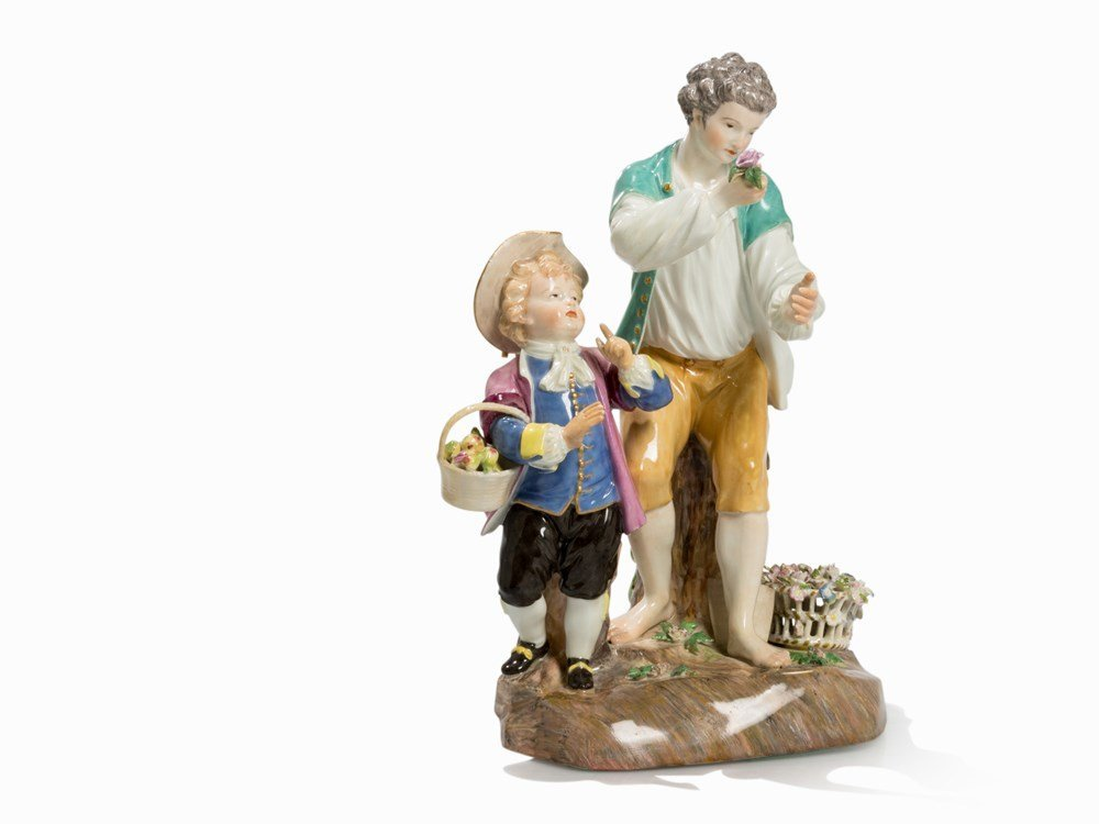 Meissen, Group of Figures with Gardener and Child,