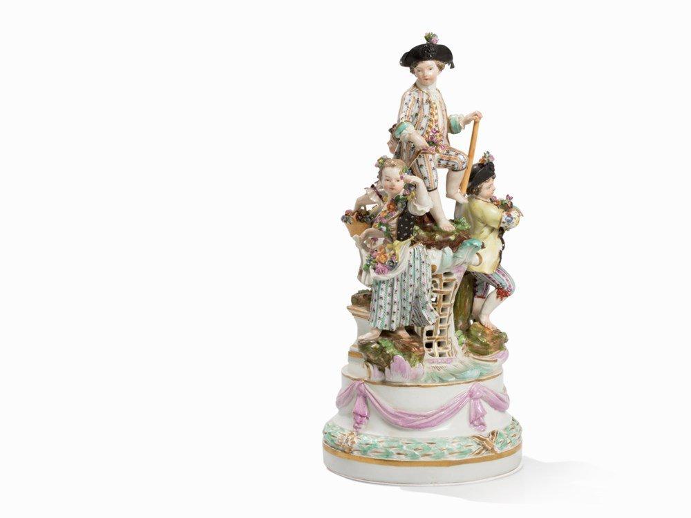 Meissen, Four Garden Children, Porcelain,1774-1817