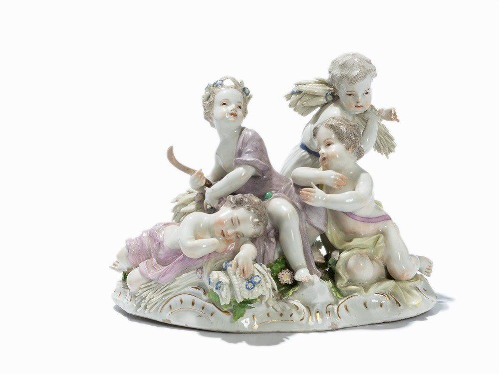 Meissen, Porcelain Group 'Der Sommer', c. 1760