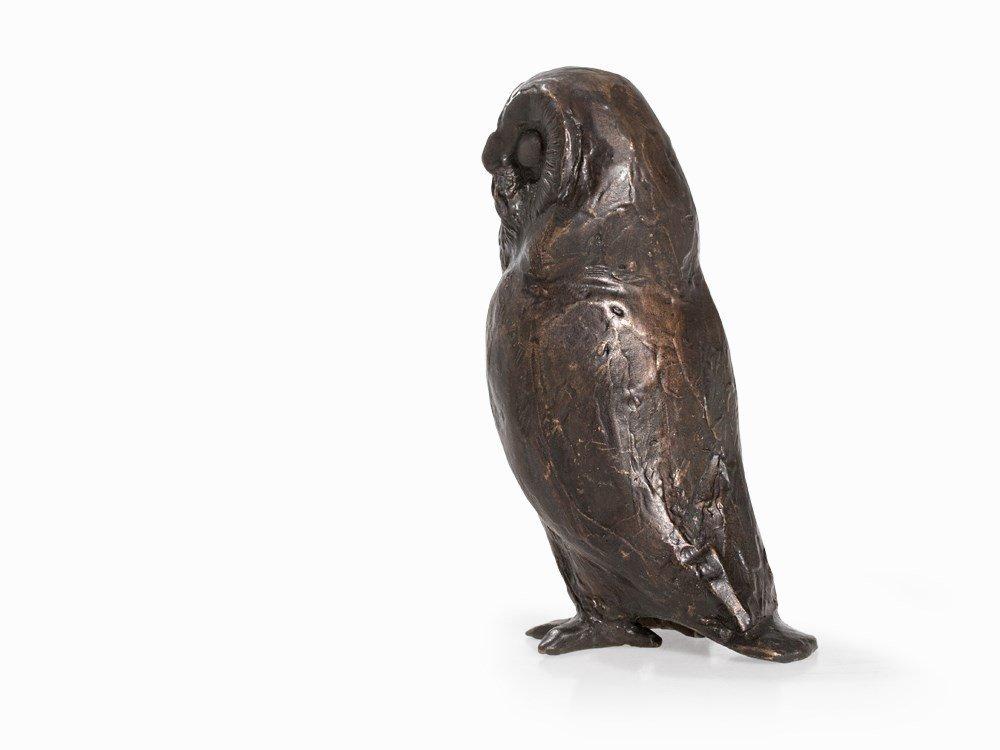 Kurt Arentz, Owl, Bronce Sculpture, Germany, circa 1990 - 3