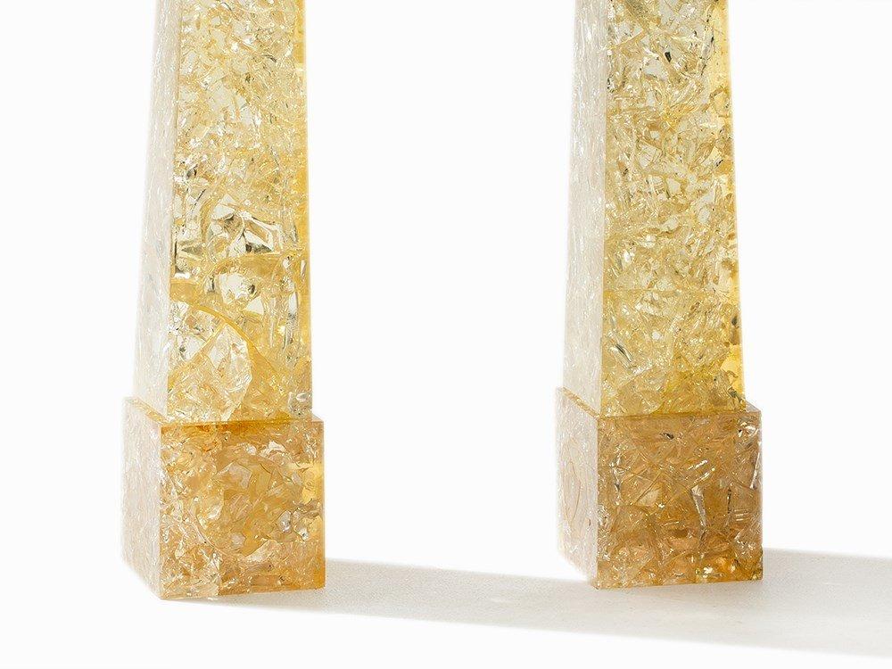 Pierre Giraudon, A pair Obelisks, Resin, France, c. - 7