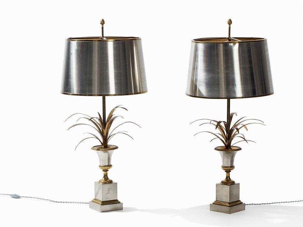 Maison Charles, A Pair of Table Lamps 'Palmier', Paris,