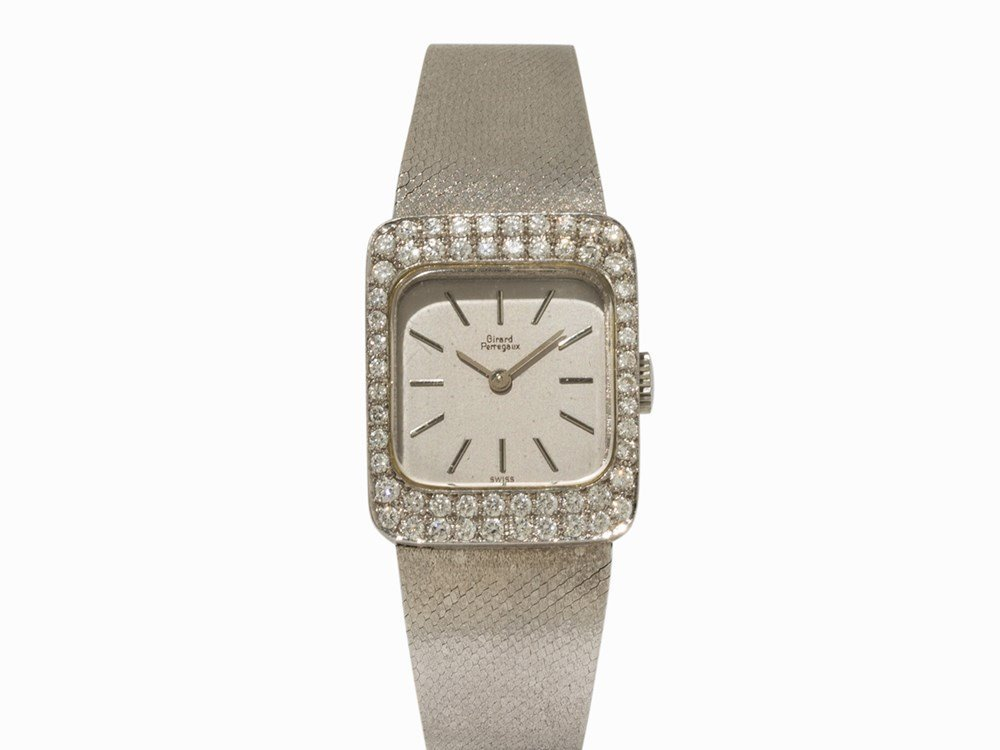 Girard Perregaux White Gold Lady's Watch, c. 1965