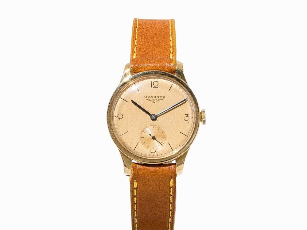 Longines Gold Wristwatch, Switzerland, c. 1940