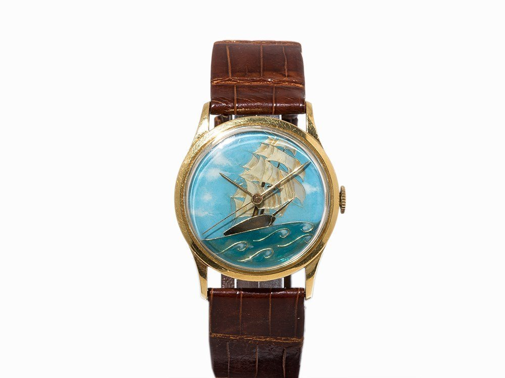 Vacheron Constantin Enamel Wristwatch, Switzerland, c.