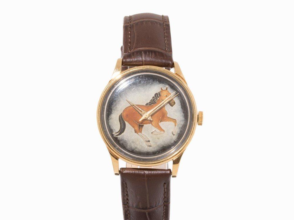 IWC Enamel Gold Wristwatch, Switzerland, c. 1962