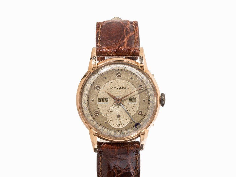 Movado Full Calendar Vintage Wristwatch, c. 1940