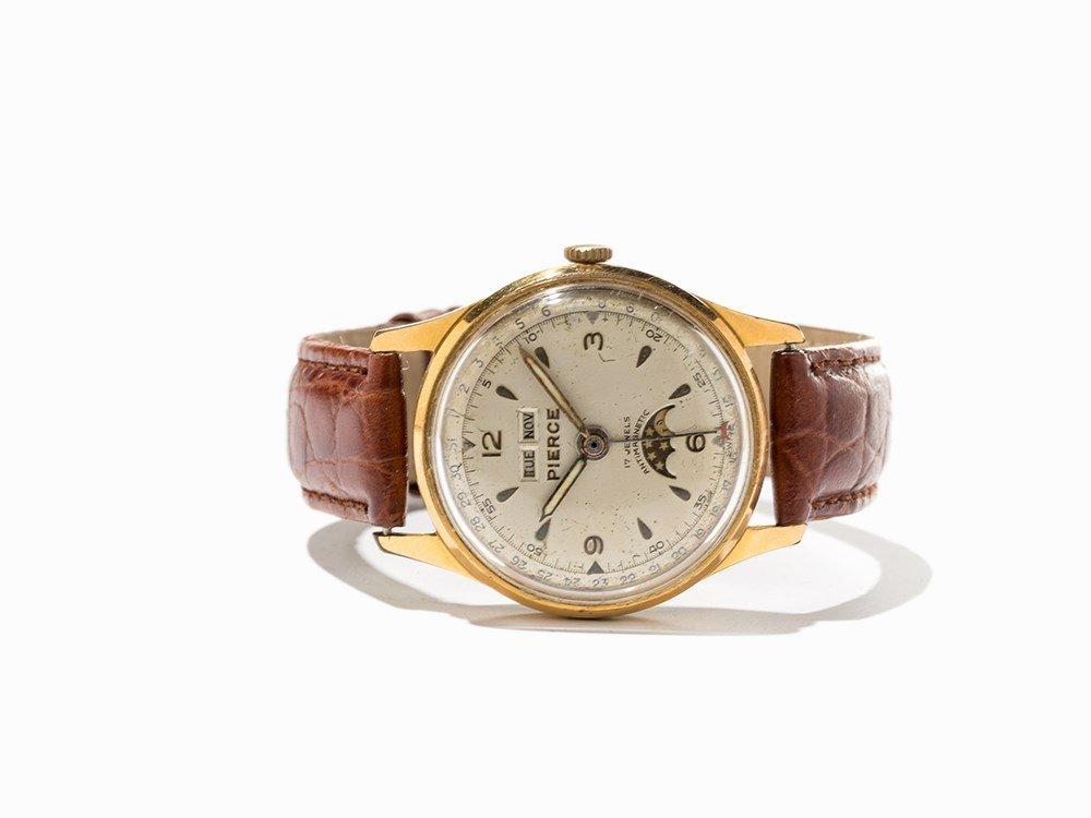 Pierce Full Calendar Wristwatch, Switzerland, Around