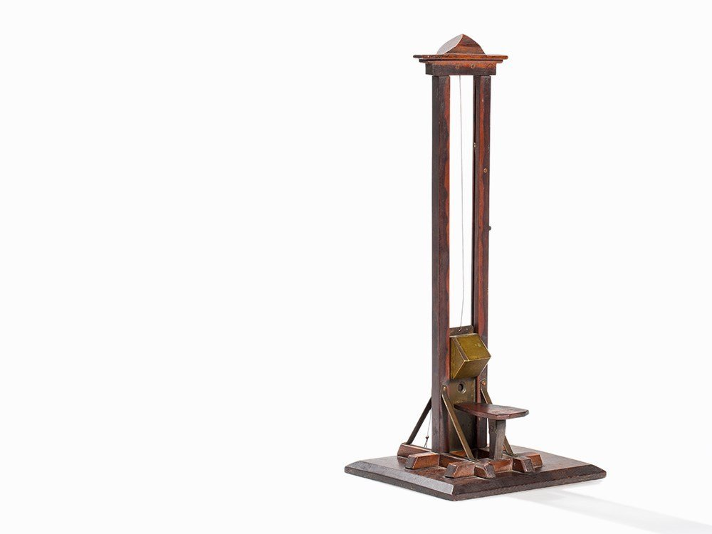 Miniature Model of a Guillotine, presumably Germany, c.