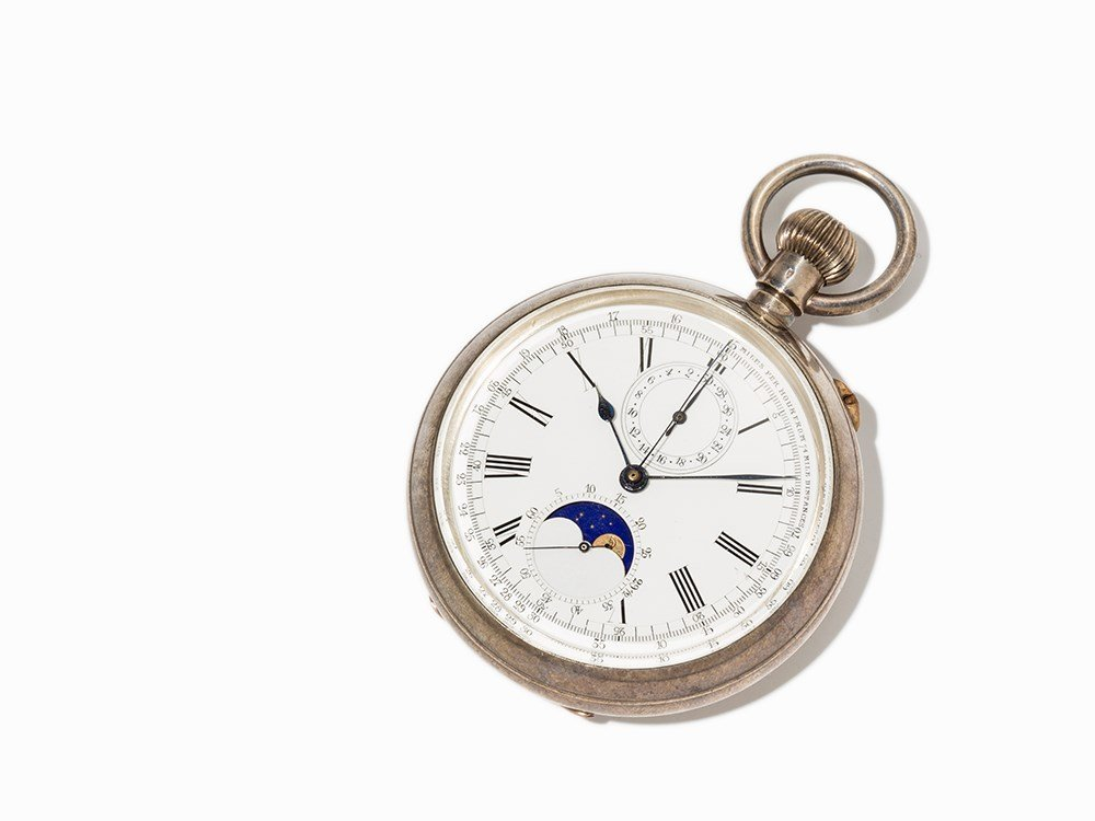 Ascot Pocket Watch Chronograph, Switzerland, Around