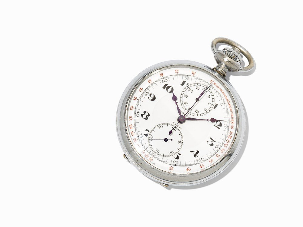 Rolex Chronograph Pocket Watch, Switzerland, Around