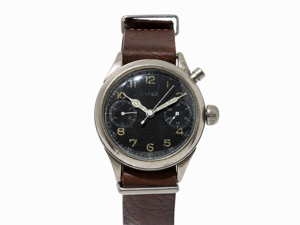 Hanhart, Pilot's Single Button Chronograph, 1940s