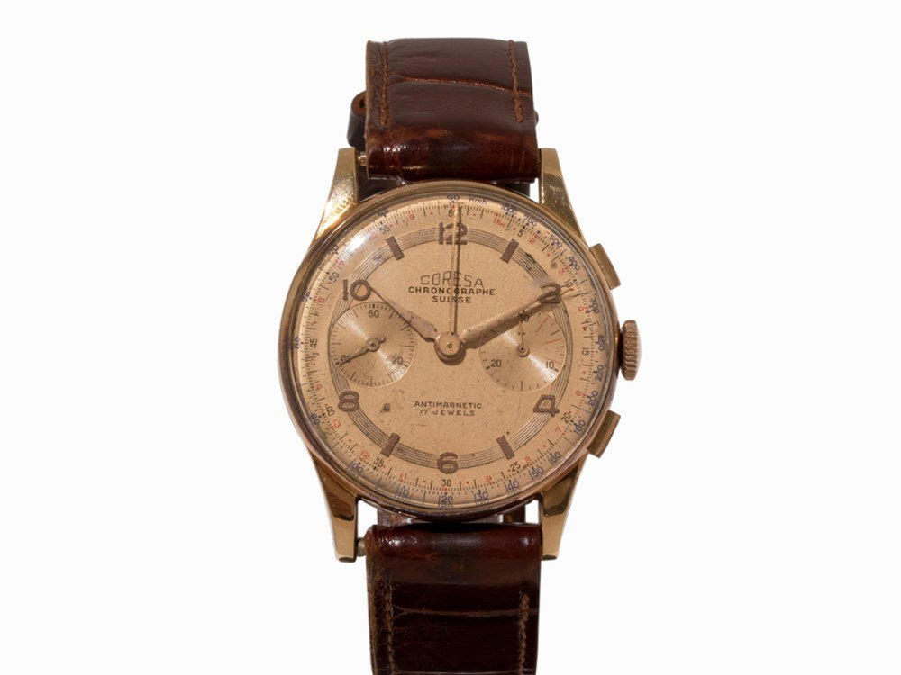 Coresa Gold Chronograph, Switzerland, c. 1960