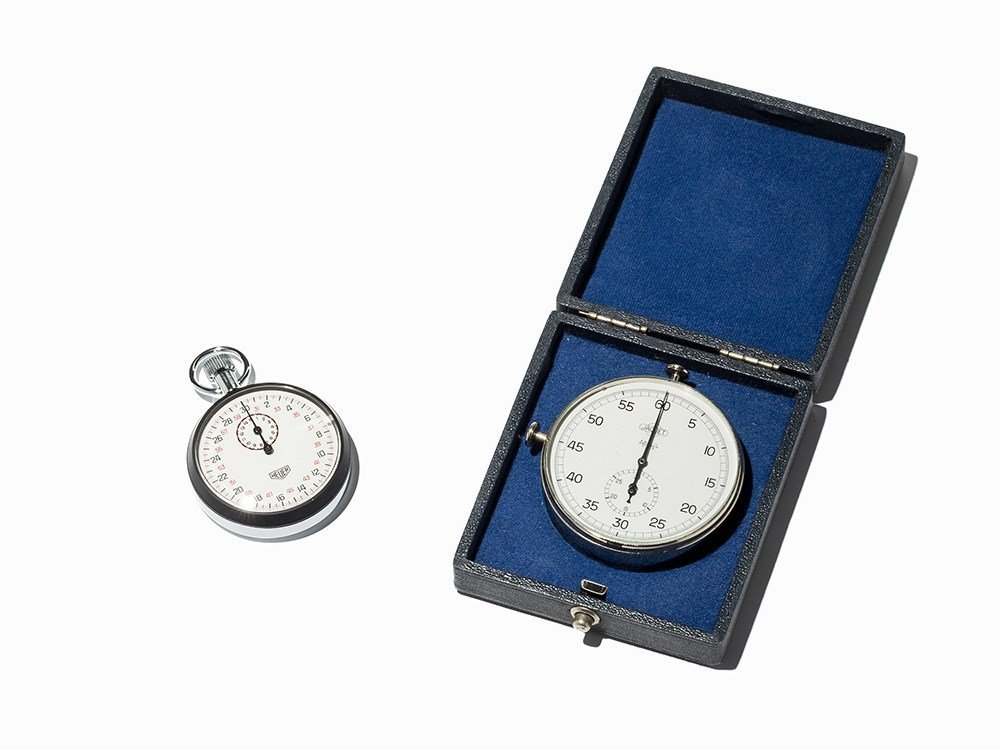 Jaquet And Heuer Stopwatches Convolute, Switzerland