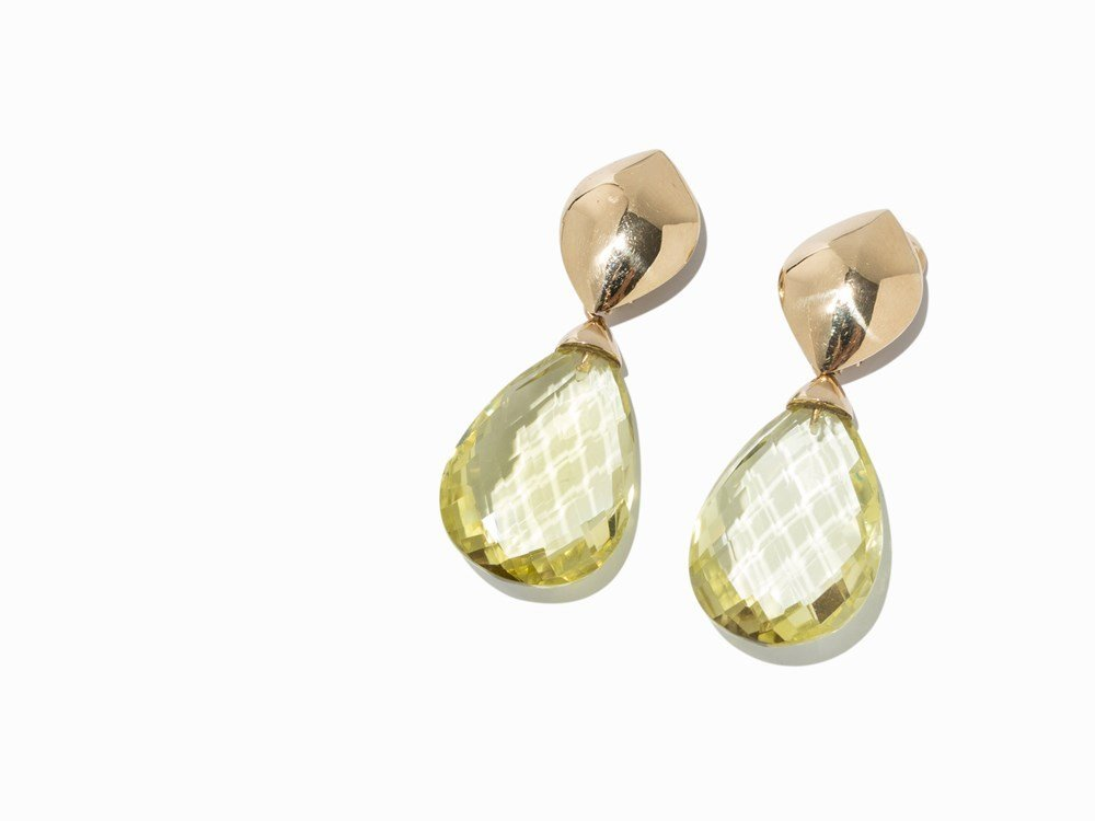 Atelier Sven Boltenstern, Ear Clips with Briolette