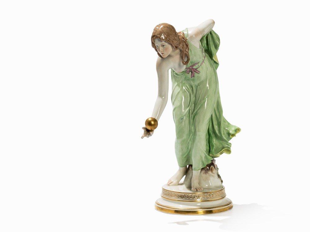 Walter Schott for Meissen Porcelain, The Boule Player,