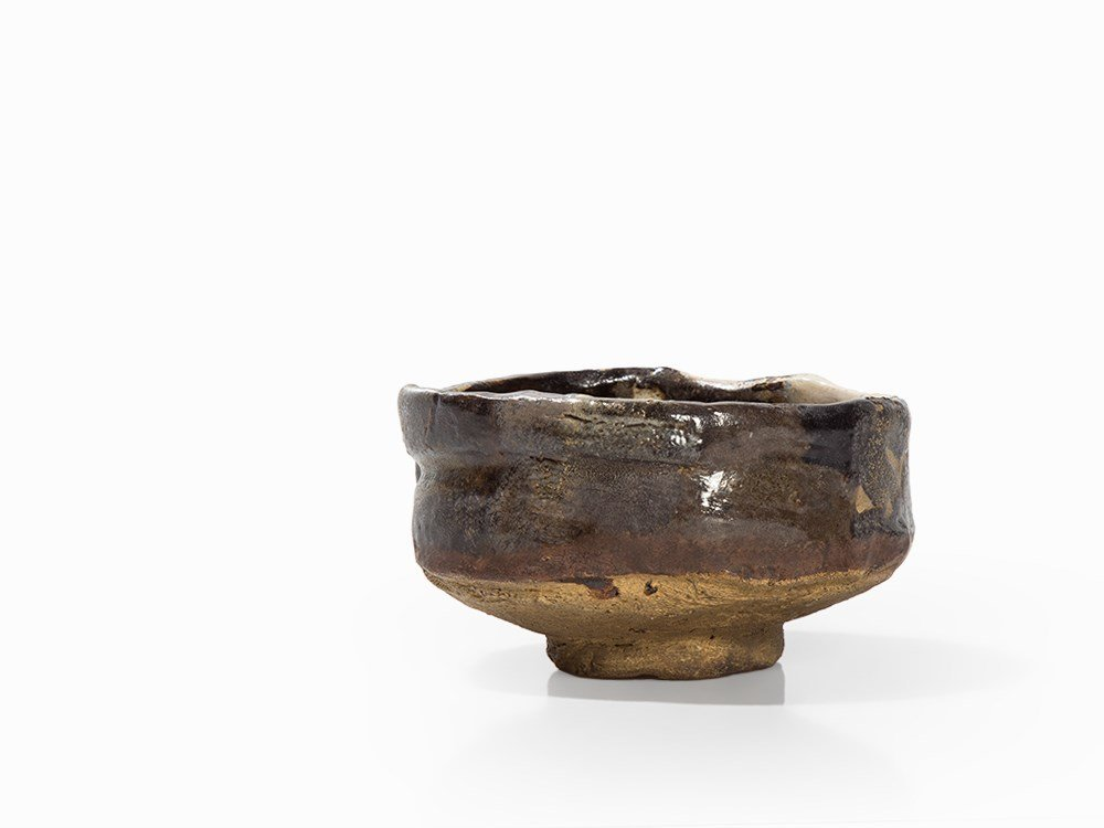 Tea Bowl, Black Oribe, Japan, c. 1600 - 5