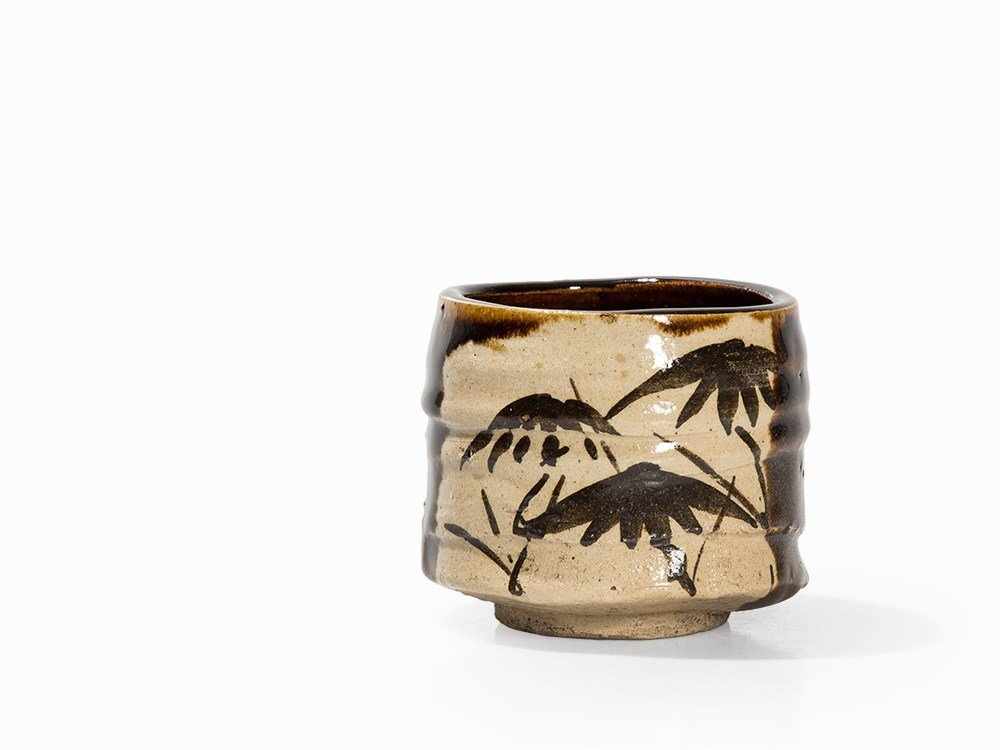 Kitaoji Rosanjin, Tea Bowl, Black Oribe, Japan, c. 1940